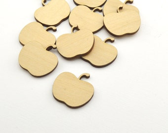 Crafting Supplies - 50 Laser cut wooden apples  - Made to order