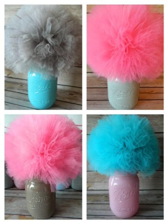 Items similar to choose your colors mason jar centerpiece