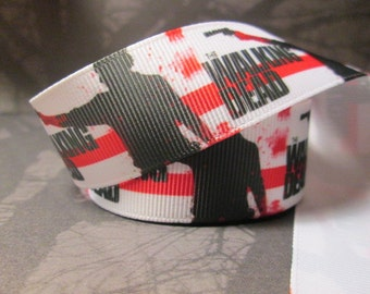 "1"" Zombie Grosgrain Ribbon for Sewing/Garment/DIY Hair Craft"