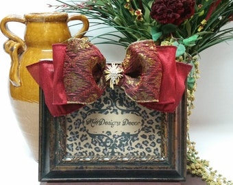 """5"""" x 7"""" Embellished Photo Frame with bow and brooch"""