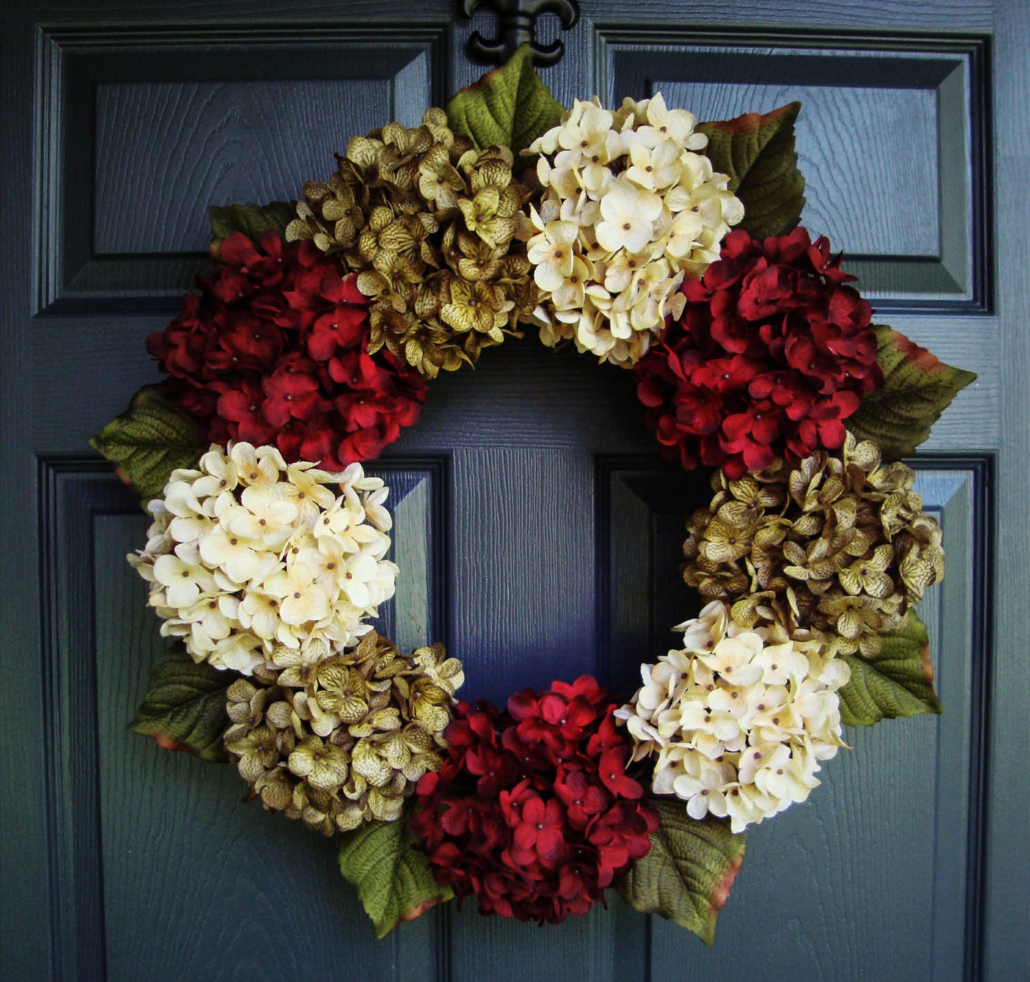 Christmas hydrangea wreath wreaths winter door wreath Christmas wreath decorations