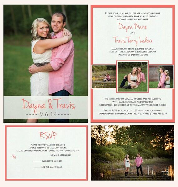 printable wedding announcement lds mormon wedding invitation, Wedding invitations