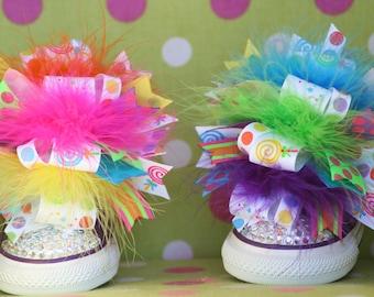Lollipop Shoe Bows or Pigtail bows