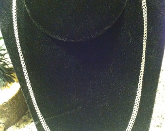 Double link two chain silver necklace