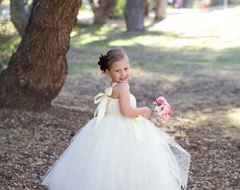 Ivory Tutu Flower Girl Dress, Ivory Tutu Dress, Ivory Dress, Flower Girl Dress, Weddings