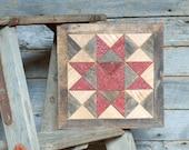 wooden quilt block, barn quilt block decor