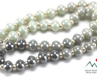 Czech Beads,Vintage Czech,Vintage Czech Beads,Vintage Czechoslovakian Necklace, 24IN Long #VIN023150