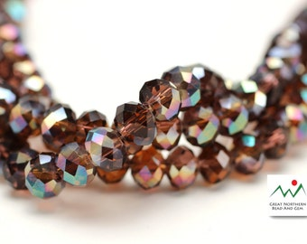 Crystal Rondelle,6MM X 8MM,Rondelle Shaped Crystal,Chinese Crystal, Full Strand #CRY061946