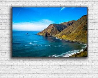 Big Sur Giclee Print   Pacific Ocean Landscape   California Photography   PCH    Highway 1   Monterey CA   Carmel CA