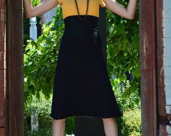 Bell Skirt/dress- organic cotton convertible skirt/dress- midi dress-