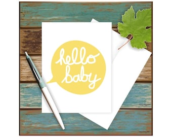 Baby Shower Card, New Baby Card, Blank Note Card, Blank Greeting Card, Baby Boy Card, Baby Girl Card, Cute Baby Card, Baby Congratulations