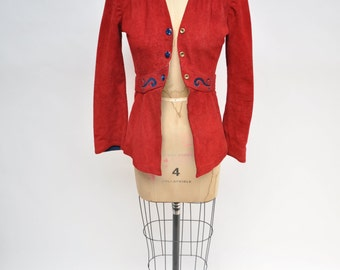 vintage leather jacket CUSTOM MADE 1970s womens suede jacket