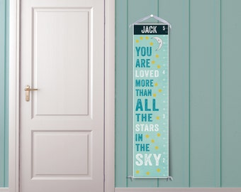 You Are Loved - Personalized Children's Growth Chart