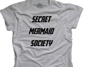 Secret Mermaid Society - Tumblr shirt  - Funny teen shirt
