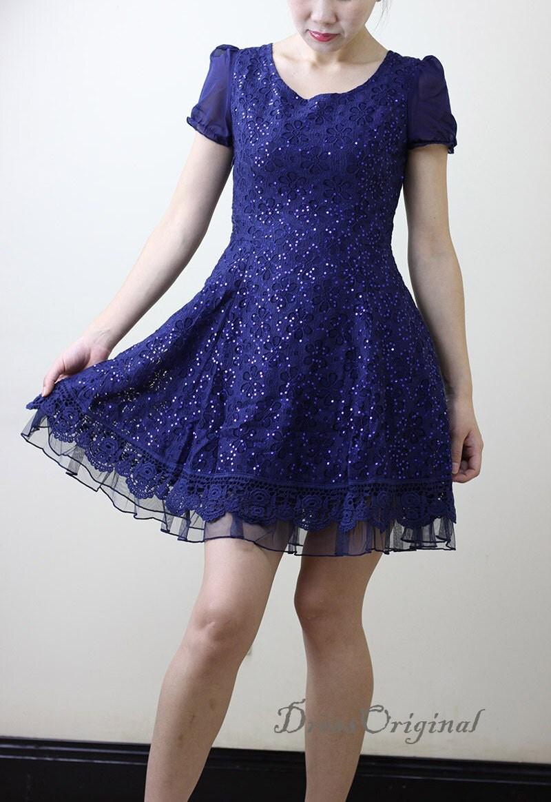 Blue chiffon dress  Etsy
