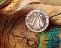 Awen Medallion ~ Druid Symbol of Divine Inspiration ~ OBOD ~ Celtic ~ Sterling Silver Pendant