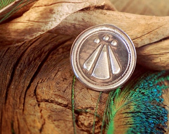 Awen Medallion ~ Druid Symbol of Divine Inspiration ~ OBOD ~ Celtic ~ Sterling Silver Pendant