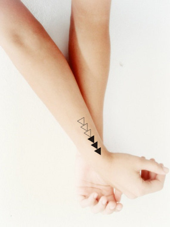 Triple Triangle Tattoo Design: Triple Triangles Temporary Tattoo Set Of 4 By WonderInks