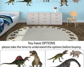 Dinosaur Wall Decals, Dinosaur Stickers, Dinosaur Decals ( Mini Real Dinos Set 1 & 2 shown) MRD1n2