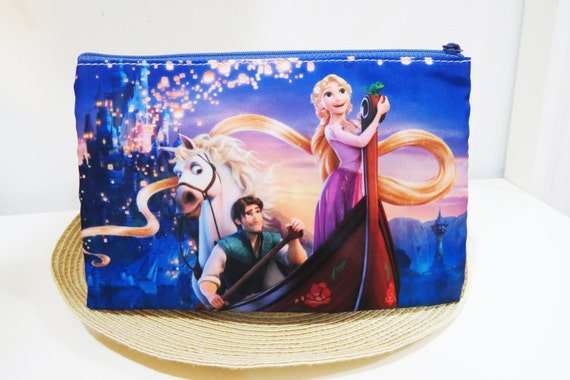 Disney Tangled Zipper Pouch (Wallet, Cosmetic Make Up Bag, Pencil Case, Phone Sleeve, Pouch,  Storage, Coin Purse)
