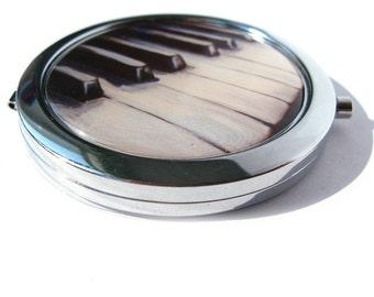 Piano Pocket Mirror // purse mirror - compact mirror - bridesmaid gift