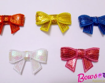 Toddler Infant Adult Sequin Mini Bow - Photography Prop