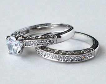 Cheap engagement ring sets for couples