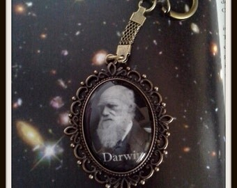 Charles Darwin Keychain - Evolution/ Darwin/ Anthropology/ Biology Accessories
