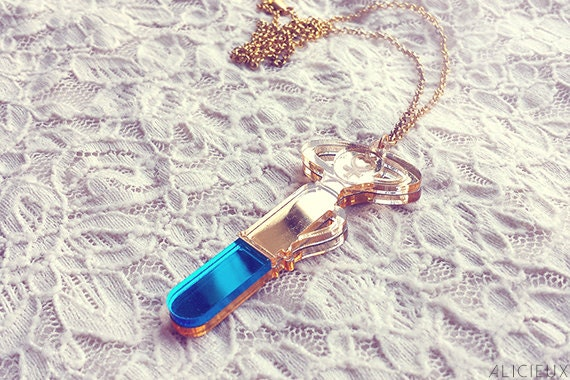Sailor Mercury Transformation Pen Necklace