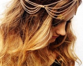 Gold Head Chain Bohemian Hair Chain Music Festival Accessories Summer Women's Hair Trendy Tumblr Hipster Fashion A001
