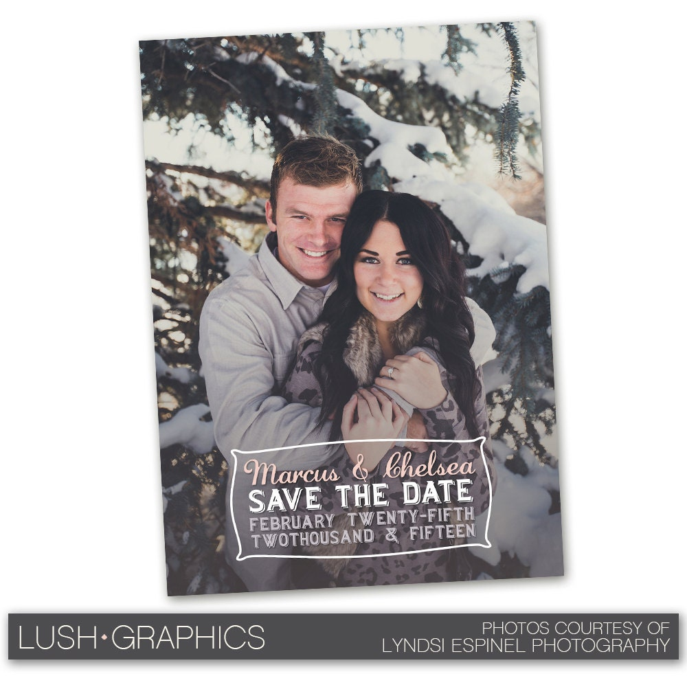 Psd photoshop template save the date wedding announcement card for Save the date psd