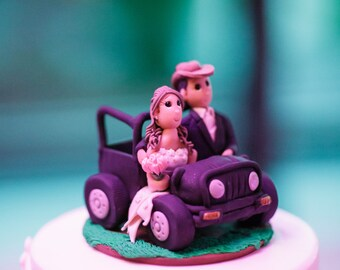 Custom Jeep Wedding Cake Topper
