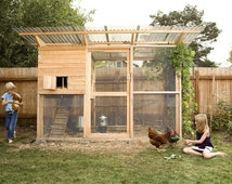 The Garden Coop Walk-In Chicken Coop Plan eBook (PDF), Instant Download, Imperial Units (Feet/Inches)
