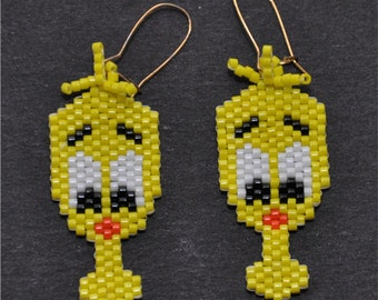 Yellow Chick Earrings