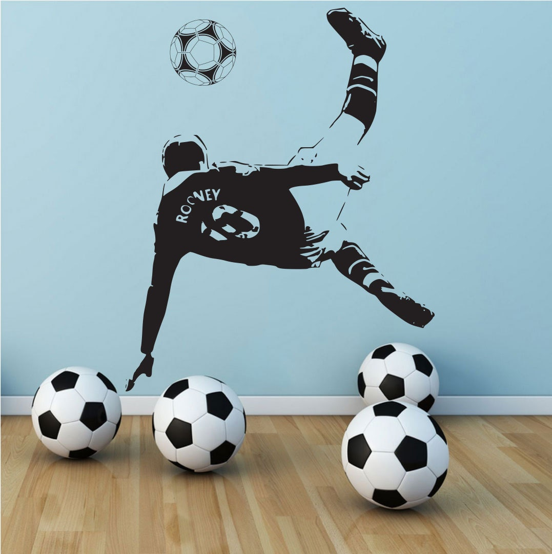 wayne rooney manchester united soccer football player vinyl. Black Bedroom Furniture Sets. Home Design Ideas