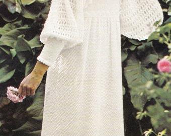 Knitting Pattern Wedding Dress : Knit wedding dress Etsy