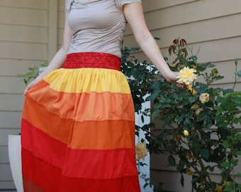 Maxi Long Amazing Six-Colored Cotton Skirt