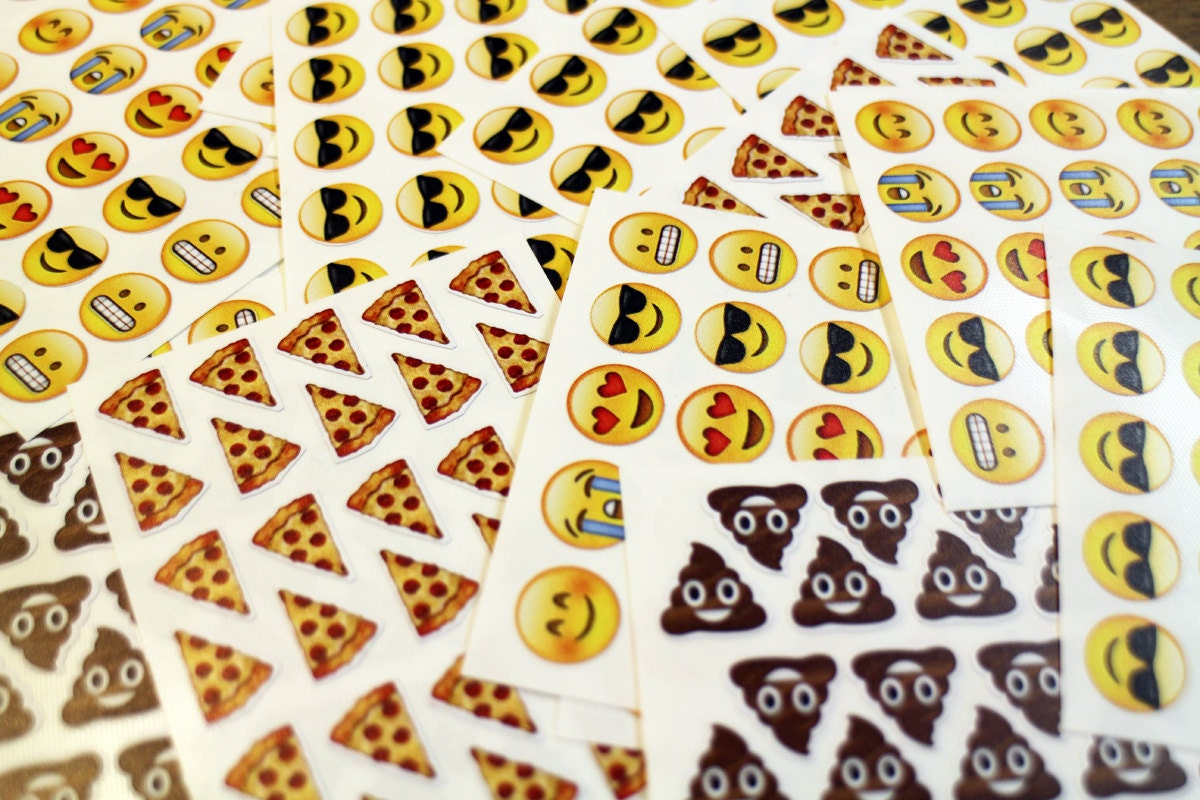 Emoji Sticker Sheets Sunglasses Emoji Poo Emoji By Theonlyship