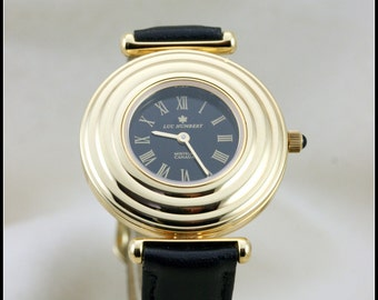 14k solid gold watch women, Womens watch, Unique watches women, Classic style watch for women handmade, Certified Swiss ETA quartz mechanism