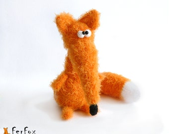 Fox plush, woodland plush, stuffed fox, stuffed animal, amigurumi fox - Ms. Fernanda Fox