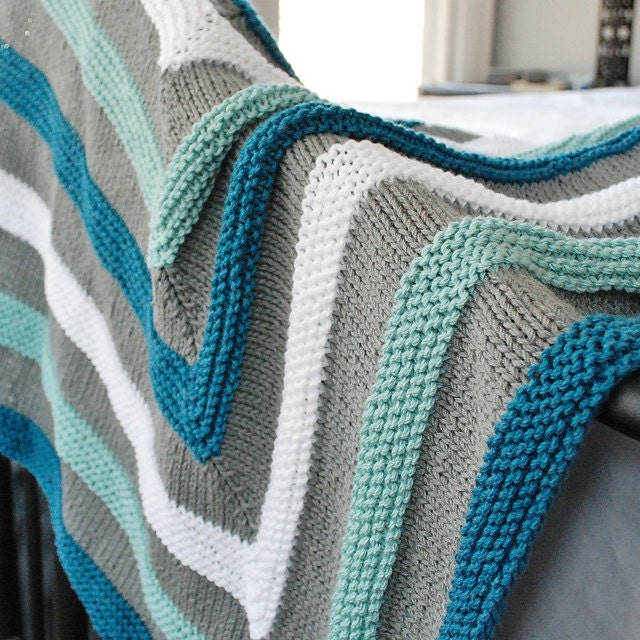 Playful Stripes Baby Blanket Knitting Pattern