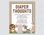 Safari Baby Shower Diaper...