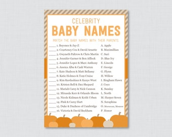 celebrity baby shower game printable printable pumpkin baby shower