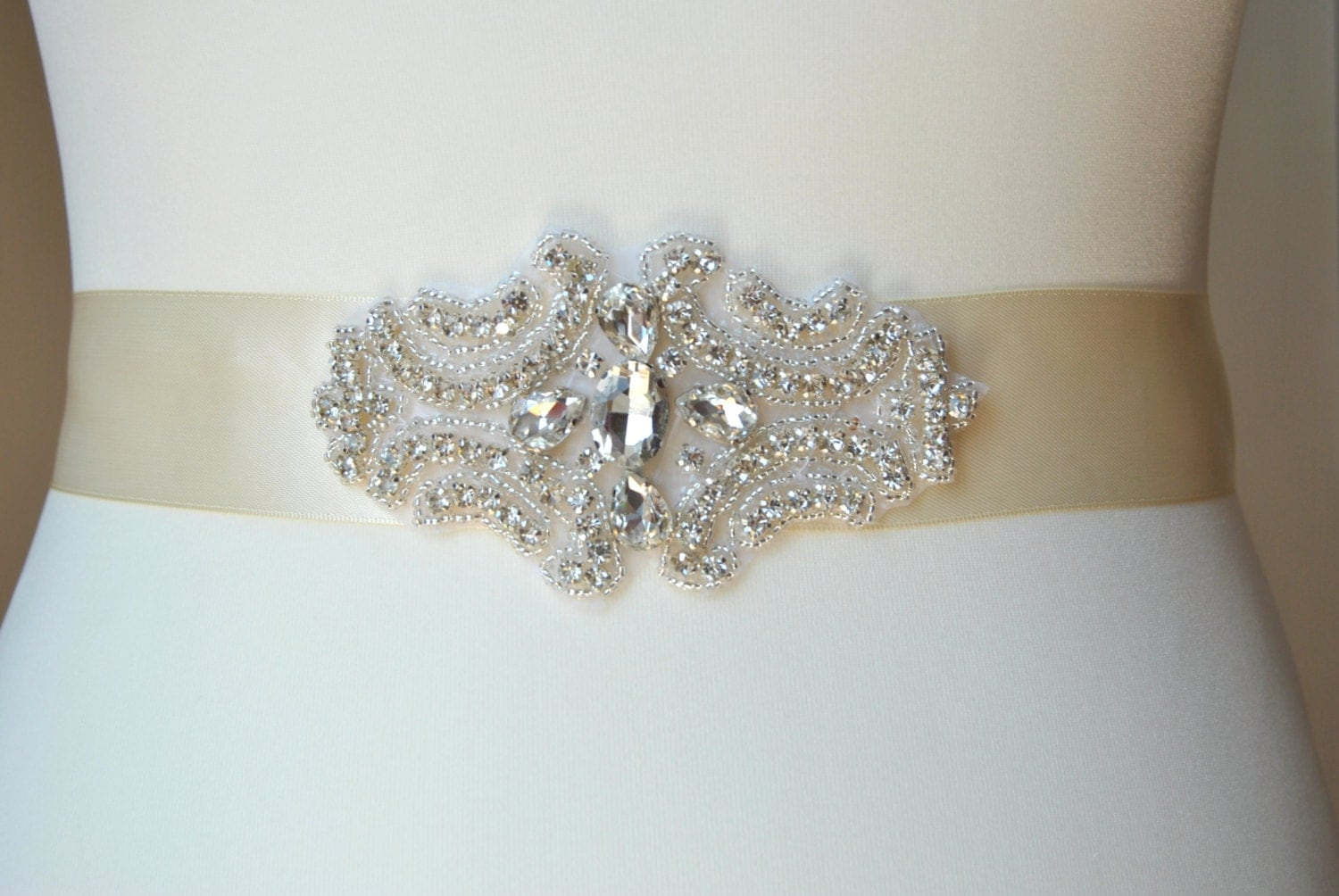 Bridal sashwedding dress sash belt rhinestone sash for Wedding dress sash with rhinestones
