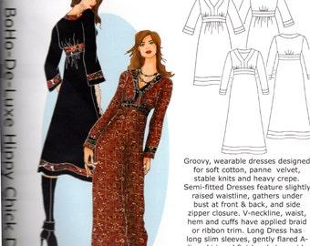HotPatterns BoHo De-Luxe Hippy Chick Dress Pattern Sizes 6-8-10-12-14