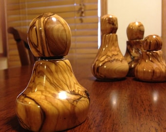 Bethlehem Olive Wood Oil Vessels - Custom made to order- Free Shipping U.S. only