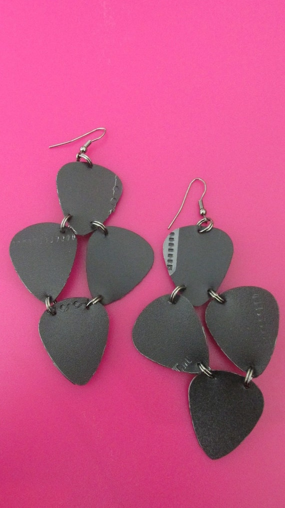 Upcycled Guitar Pick Earrings!