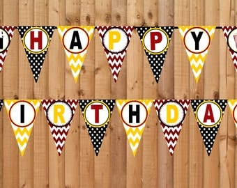 Movie Night Happy Birthday Banner- INSTANT DOWNLOAD - Printable Party Decorations