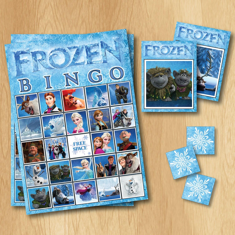 Frozen Bingo Game Frozen Birthday INSTANT By PrintMeParties