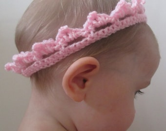 Royal Baby Handmade Crocheted Crown /Baby Shower Gift/ Baby Headband/Christening gift